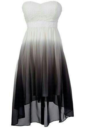 Super pretty black and white ombre dress