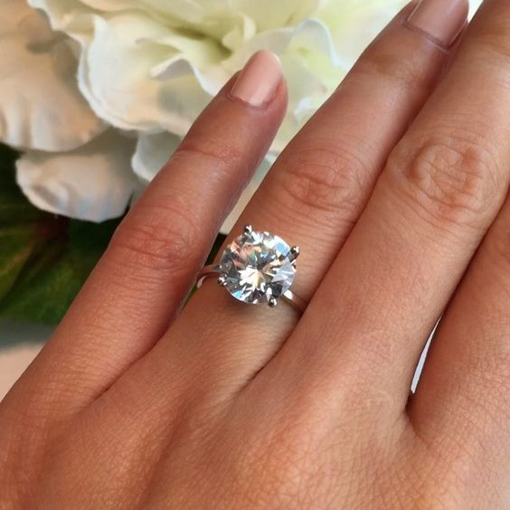 Video time! 💕💍 The 4 ct solitaire ring from TigerGems.com. 💍💕 For reference, I wear a size 5 on my ring finger.  Follow @tigergemstones