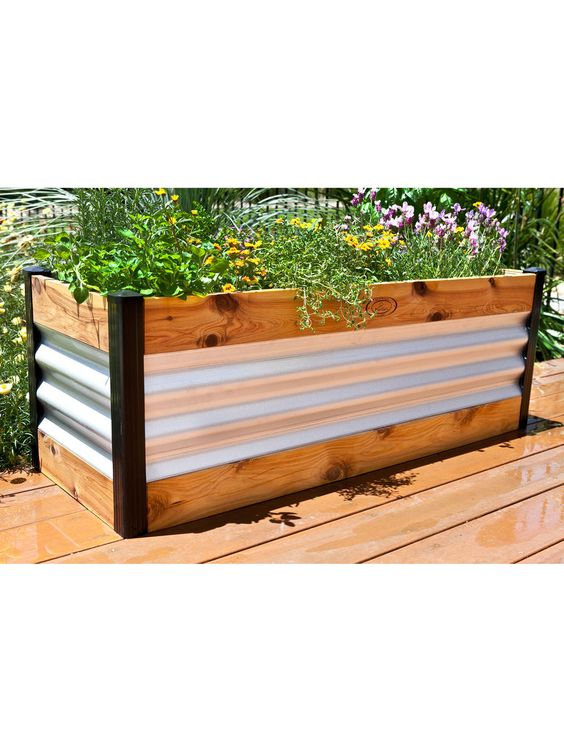 Corrugated Metal Raised Bed Gardens And Garden Beds On 400 x 300