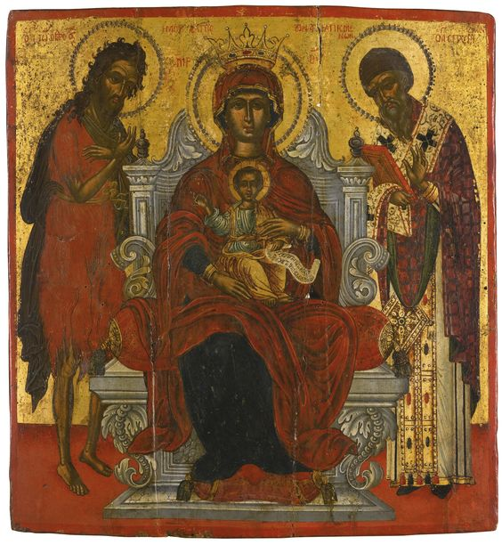 Mother of God Enthroned, Greece, second half 17th century | Lot | Sotheby's