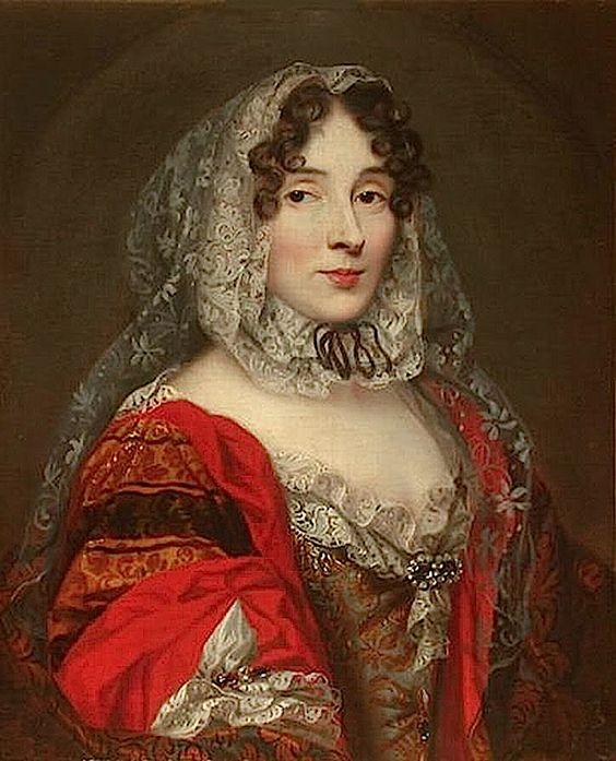 c. 1670 Princesse des Ursins, Anne Marie de La Tremoille by unknown (Musée Condé - Chantilly France):