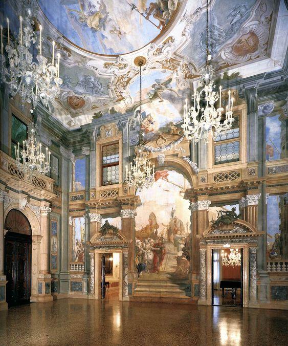 Palazzo Labia, ballroom with frescoes, by Tiepolo, Venice: