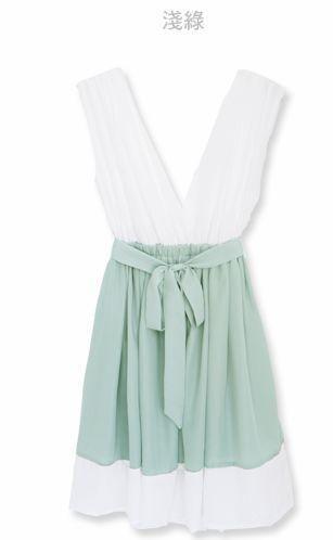 Simple color block dress