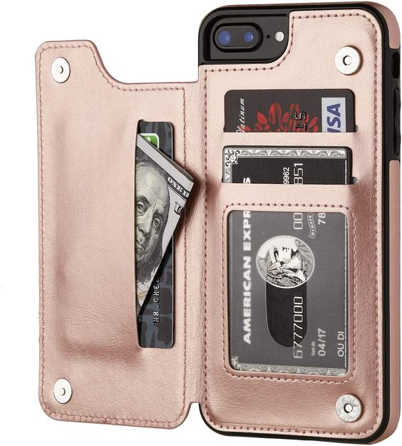 OT ONETOP iPhone 7/8 Plus Wallet Case with Card Holder is made up of premium PU leather making it comfortable to touch.