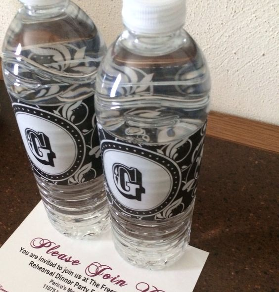 Bottled water and directions in the hotel rooms for out of town guests #wedding #diy #love #monogram #sanantonioweddings