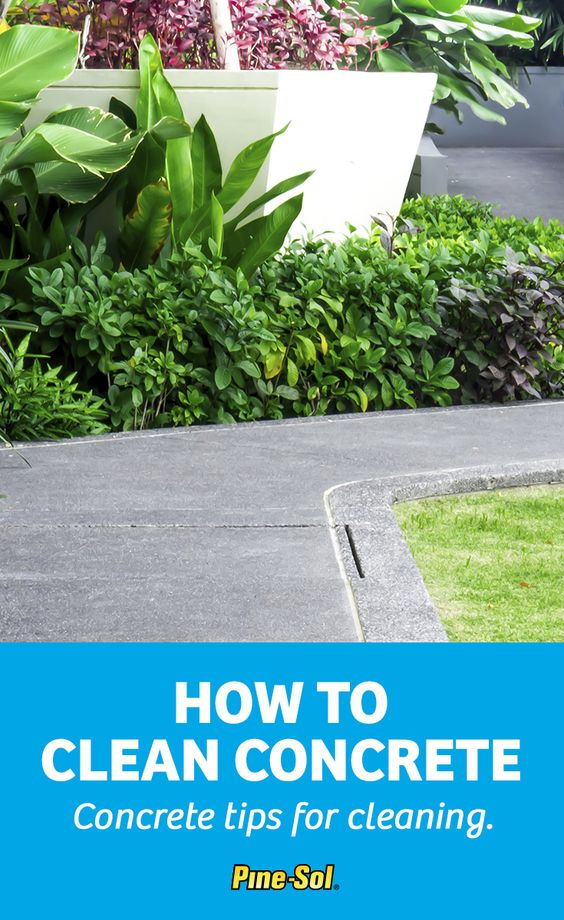 how to clean oil from cement