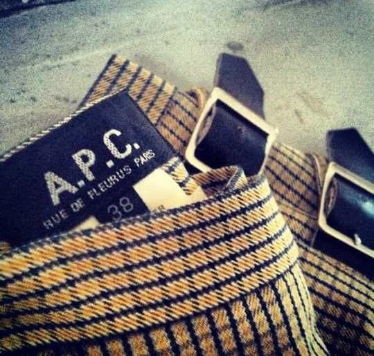 A vintage A.P.C Skirt - another of our favourite picks from this weekend's Fair Fashion Fair