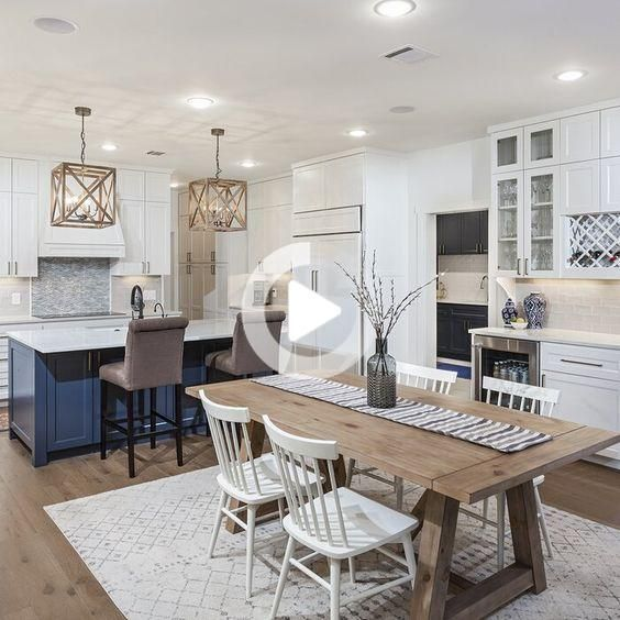 20 Beautiful Farmhouse Dining Room Table Decor Ideas And Remodel Farmhouse Dining Room Table Dining Room Small Kitchen Remodel Design