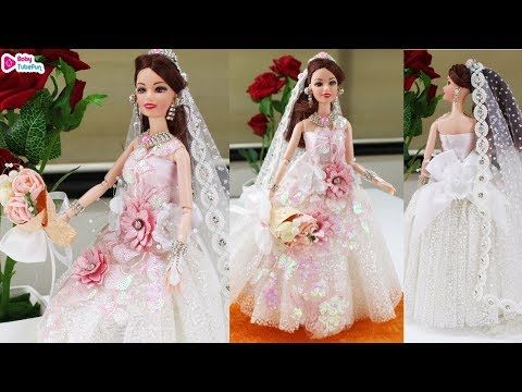 Barbie Wedding Dress Style Princess Gown Fashion Plastic Chain Necklace Dolls