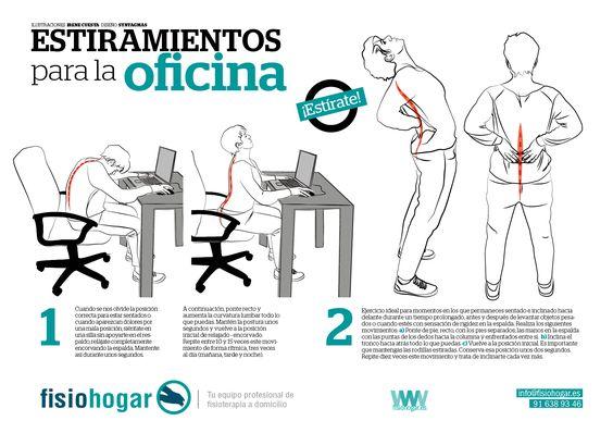 Ejercicios de movilizaci n para la oficina estiramientos for Estiramientos oficina