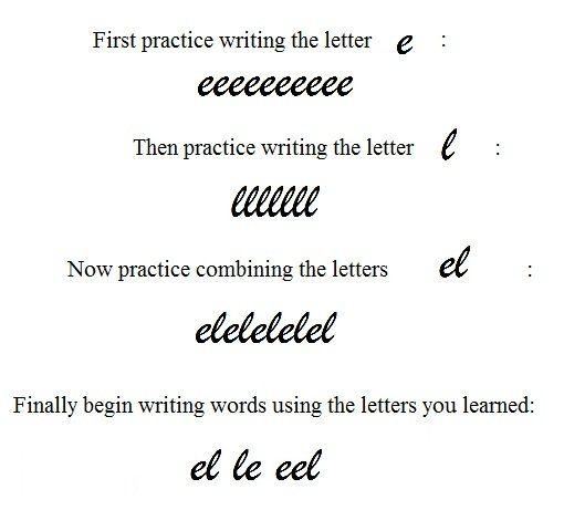cursive writing patterns