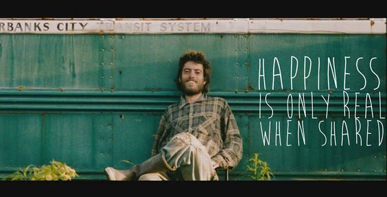 happiness is only real when shared into the wild essay about chris