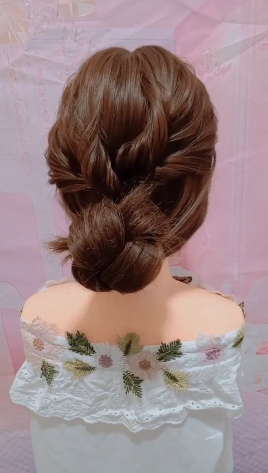 Wedding Updos For Long Hair Videos In 2020 Hairdo For Long Hair Short Hair Styles Easy Long Hair Updo