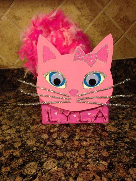 valentine boxes for girls girls valentines box crafts pinterest - Cat Valentine Box