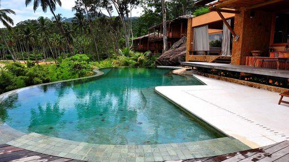 como assentar pedra hijau na piscina?: