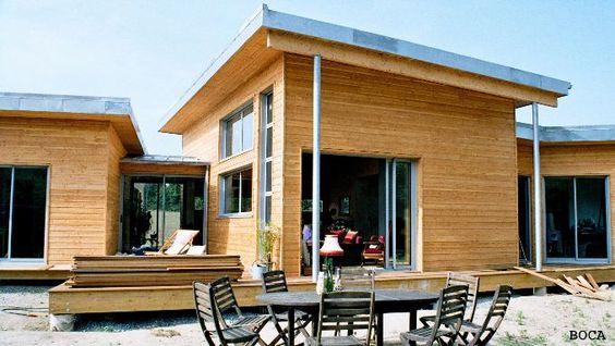 maison bois en u - Recherche Google Idees maison Pinterest Salons