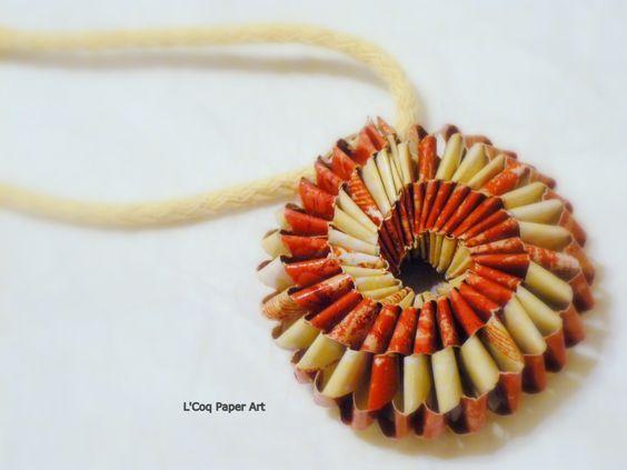 Origami necklace  | Origami Jewelry Necklaces | Origami Bijou Collares | L'Coq Paper Art