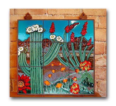 Desert Scene 1 By Carly Quinn Desert Art Tile Murals Mural