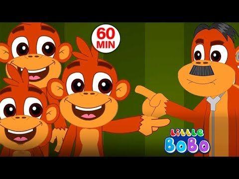 Five Little Monkeys Jumping On The Bed Flickbox Kids Songs And Little Bobo Popular Nursery Rhymes Youtube Five Little Monkeys Kids Songs Little Monkeys