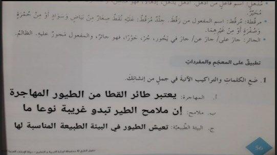 حل درس طائر القطا لغة عربية صف سابع فصل ثالث Math Math Equations