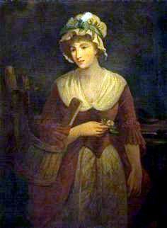 """""""Portrait of a Milkmaid"""", attr. Francis Wheatley, ca. 1780"""