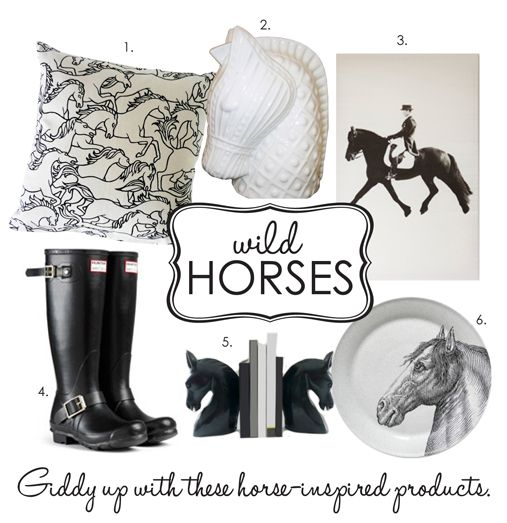 Horse themed products as featured on Adore Home blog. Giddy up!