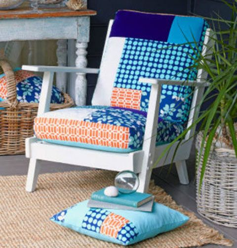 How to create a patchwork chair better homes and gardens Yahoo better homes and gardens