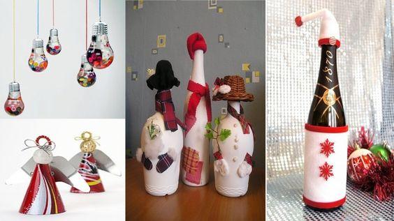 DIY 5 Ideen Weihnachtsdeko Upcycling Recycling und so ne Sachen - Weihna...
