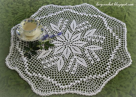 Lacy Crochet: Lily of the Valley Doily, Free Vintage Pattern: