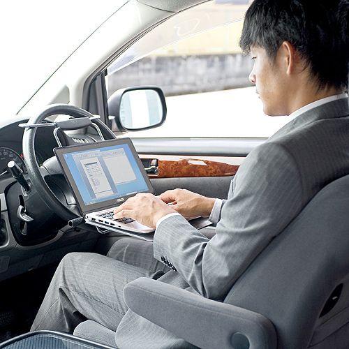車載用ノートパソコンテーブル ハンドルテーブル アルミ Ez1 014 激安通販のイーサプライ 車載 テーブル スチールテーブル