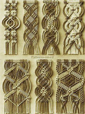 Vintage-Instruction-MACRAME-bracelet-beads-cord-weaving-Patterns-on-CD