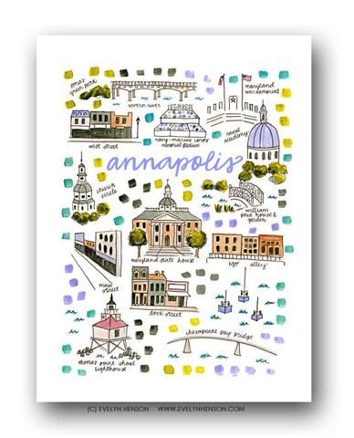 Annapolis Map Print Evelyn Henson Pinterest Gifts For the