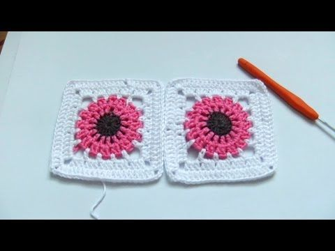 Crochet tutorial:  How to crochet a granny square for beginners step by ...