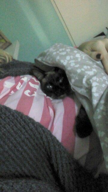 Dormir con kiari en mi panza