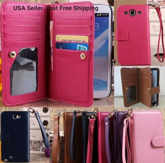cell phone purse wallet for samsung s5   Cell Phones & Accessories > Cell Phone Accessories > Cases, Covers ...