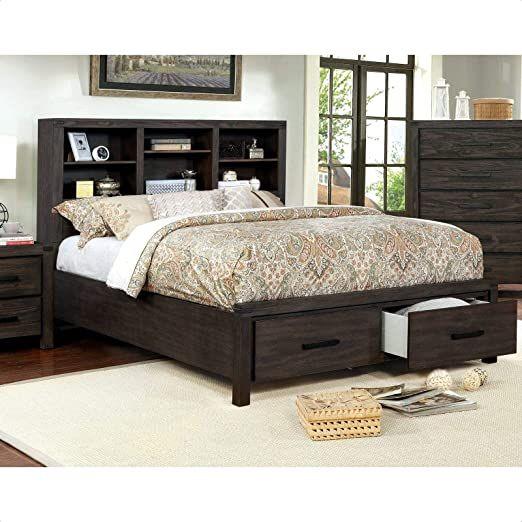 Rhoda Storage Platform Bed, King Storage Bed Frame With Headboard