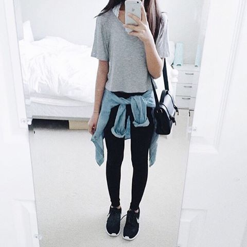 School Date Simple Outfits And Black Leggings On Pinterest