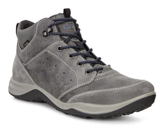 Ecco Mens Espinho Mid Gtx Titanium Dark Shadow Boots Gore Tex Boots Outdoor Boots