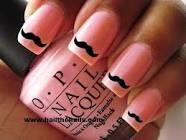 Pink moustache :)