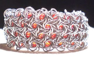 daisykreates: Moorish Rose Cuff with tutorial #chainmaille