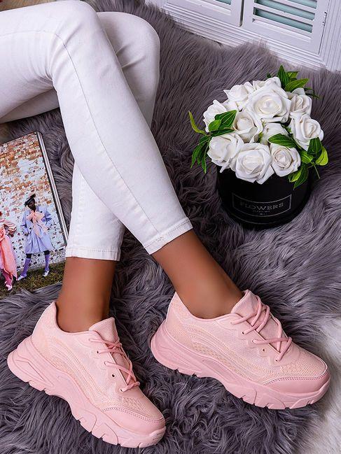 Damskie Buty Sportowe Rozowe Dml902 11 Shoes White Sneaker Sneakers