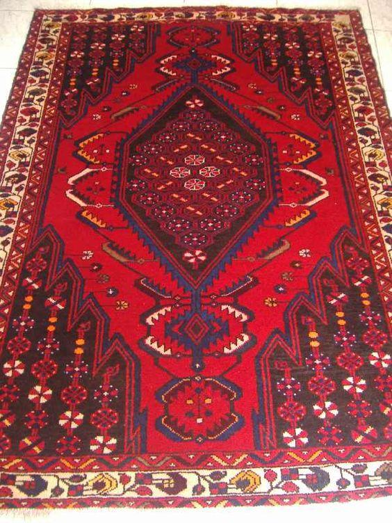 Tapete Artesanal Rústico Tribal Iran Bakthiar 2,08x1,42 código 300-00743