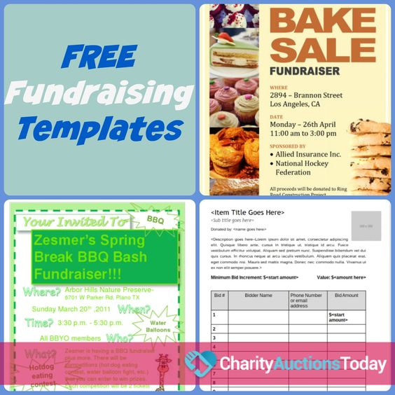 printableflyertemplates MS Pinterest Fundraising - fundraiser template free