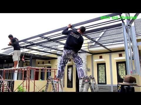 kanopi baja ringan di cat 1277 cara pasang how to install lightweight