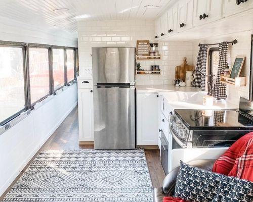 Best Skoolie Kitchen Design Ideas Layouts Skoolie Livin Skoolie Kitchen Kitchen Design School Bus House