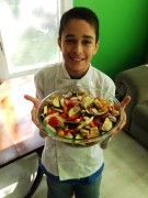 ROASTED RATATOUILLE: Wondering how to get your little ones into food ... and the kitchen? This mom explains how their family turned their young son into head chef on Sundays. Not only did it get Joshua interested in food, it created a space where he could work on important math skills. Plus it gave the 'rents a night off from cooking!