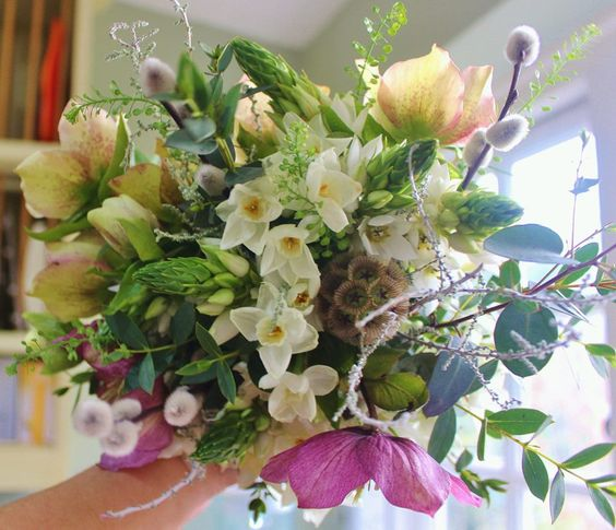 Winter Wedding Bouquet By Lock Cottage Flowers Surrey UK