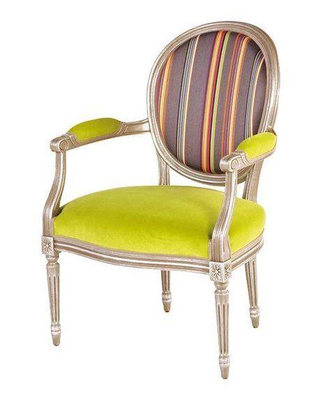 silla luis xvi con brazos retapizada moderna sillas y sillones pinterest