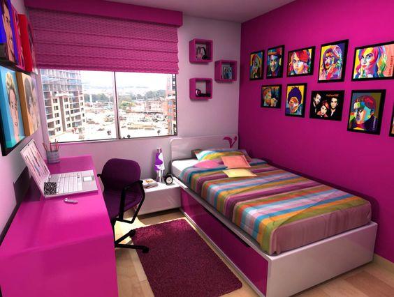 Habitaciones juveniles bedroom teens habitaciones Habitaciones juveniles rosa