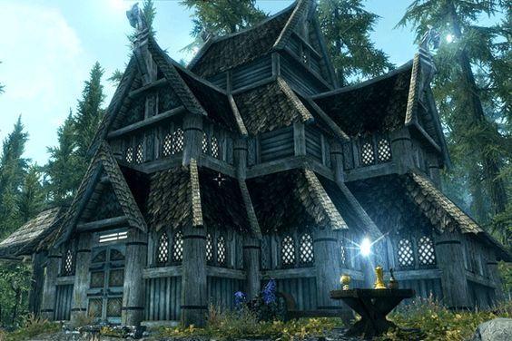 Best Skyrim Mage House | Skyrim house, Skyrim house mods